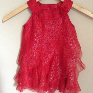 Other - Red Ruffle Sparkly Dress